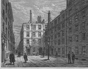 Elm Court seen from Elm Court Building (now Lamb Building) (circa 1879)