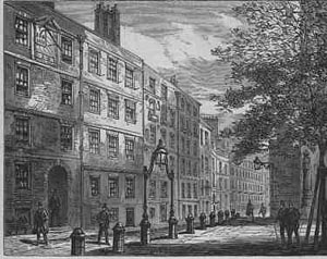 Elm Court Building seen from Middle Temple Lane (circa 1879)